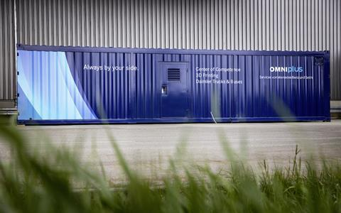 Daimler mobile 3D printing container