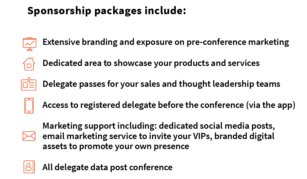 Sponsorship Packages Include